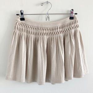 NWT Free People Pleated Swing Mini Skirt Size XS